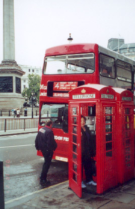 Double Decker Bus and Telephone Booth, London
